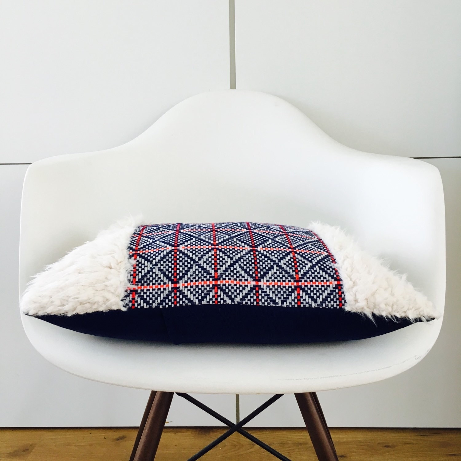 Mid Century Lumbar Pillow : Boho Blue Mid-Century Pillow Cover 13x18 Lumbar
