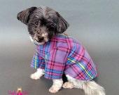 Plaid Dog Sweater, 2 Leg and 4 Leg Styles
