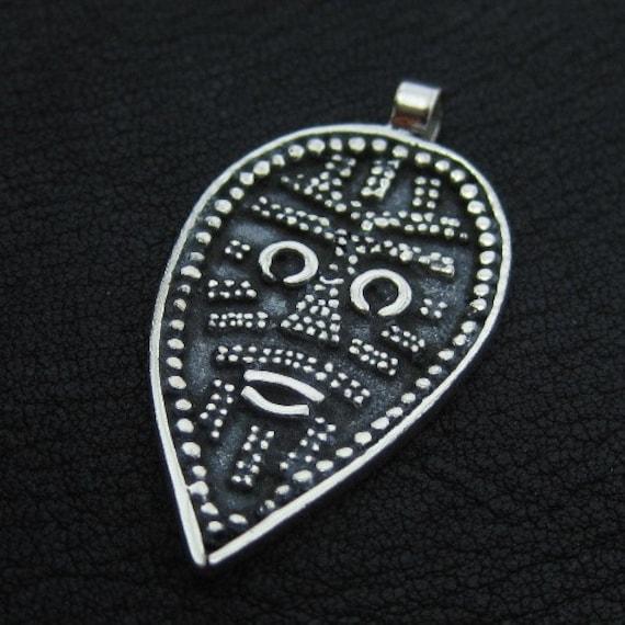 Silver Viking Face pendant