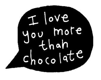 Bear Love Card, I Love You More Than Chocolate Card, I Love You Card, Birthday Card For Chocolate Lover, Bear Greeting Card, Poosac