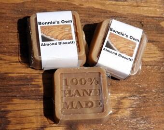 Goats Milk Soap, Almond Biscotti, 2 oz bar, Cold Process Soap, Food Soap, CP Soap, Almond Scented, Chocolate Almond, Bicotti Scented, Cocoa