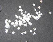 White Star Glitter, White Glitter, SOLVENT RESISTANT, Glitter STARS, Nail Art, Nail Polish Glitter, Craft Glitter, White Stars, White