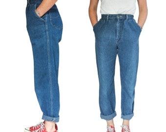 26 | Engineer Stripe High Waist Mom Jeans by Lee Riders