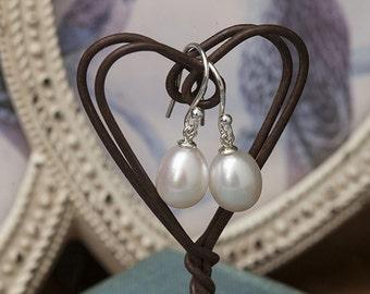 Drop in the Ocean Pearl Drop Earrings
