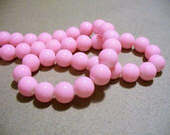 Glass Beads  Light Pink Round 10MM