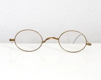 Wire Rim Glasses Spectacles - John Lennon Glasses - Prescription Antique Gold Tone Eye Glasses