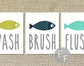 Fish, Bathroom Printables, Fish Bathroom Prints, Target - File Download