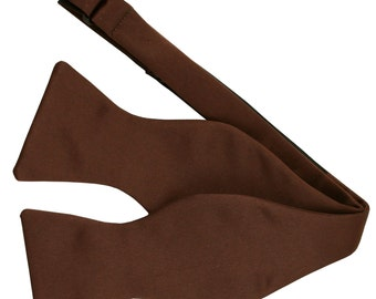 New Men's Solid Brown Self-Tie Bowtie, for Formal Occasions