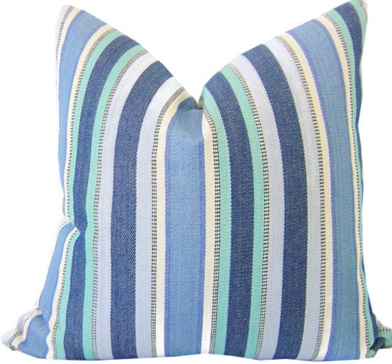 Blue Striped Decorative Pillows : Blue Striped Pillows Decorative Pillow Cover Lumbar