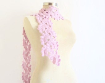 Scarf, Liliac, horton, Necklace,collar, cowl ,capelet ,collar ,long shawl , scarves ,stole,handmade,crochet,gift for her,necklace,warm