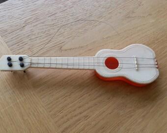Vintage Plastic Toy Guitar