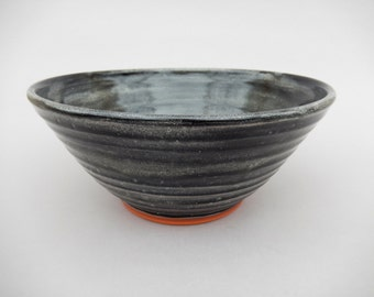 Charcoal Gray Pottery Bowl
