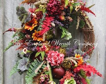 Fall Wreath, Autumn Wreath, Tuscany Wreath, Fall Floral, Thanksgiving Wreath, Harvest Wreath, XL Fall Designer Wreath, Elegant Fall Wreath