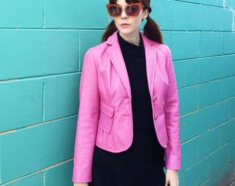 Pretty Pink Bubblegum Leather Jacket by Nine West