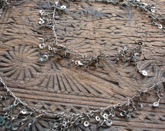 """Long Indian Kuchi  tarnished hand made chain  43"""" or 110 cm"""