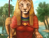 Sekhmet Prayer Card