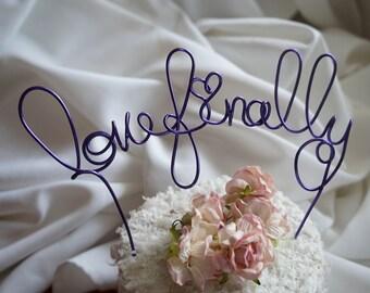 Love Finally Cake Topper, Fun Engagement, Wedding Decor