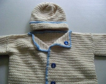 Baby Crocheted Sweater Set