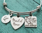 maid of honor gift, maid of honor proposal gift, matron of honor gift, personalized wedding gift, maid of honor jewelry, bridal party gift