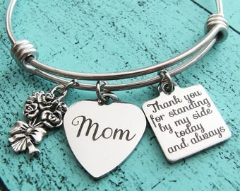 wedding gift for mom, bridal gift for mom from daughter son, mother of the bride gift, mother of the groom gift, Thank you for standing by