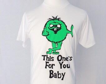 Green Monster Flipping the Bird Tee