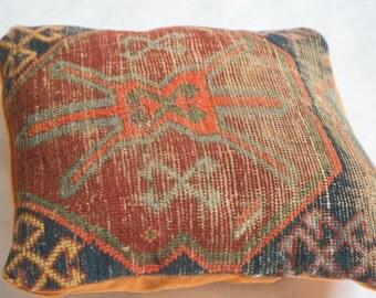 Antique Caucasian Rug Fragment Pillow