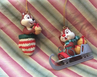 SALE 20% off original price 40.00 Vintage Chip and Dale Christmas ornament