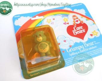 Vintage Care Bear Grumpy Bear Mini: Unopened 1980s Toy MOC