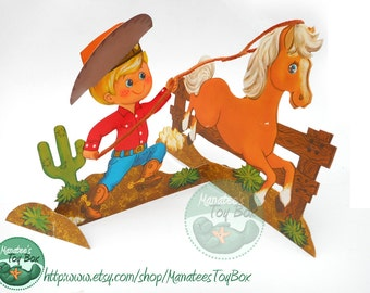 Vintage Hallmark Birthday Centerpiece: Cowboy Party