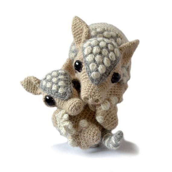 Amigurumi Puzzle Animals : Armadillo Amigurumi Crochet Pattern Bundle PDF Instant