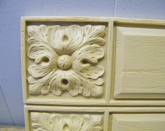 Vintage Pair of Decorative Furniture  Embellishment Architectural  Trim Moulding Repurpose Pieces