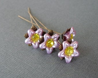 Lilac Flower  Headpins 2 Inch long - 4.