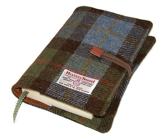 Book Cover Material Uk ~ Book cover harris tweed fabric bible by whimsywoodesigns