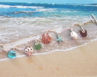 Sunrise Shell Tideline Treasures Charm Bracelet
