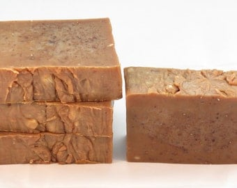 Black Amber Musk Oatmeal Buttermilk and Honey Luxury Rustic Soap with Shea Butter