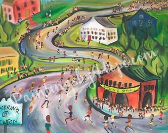 The Newton Hills- Boston Marathon