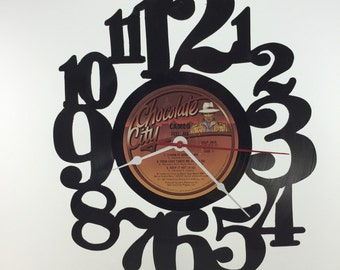 Handmade Vinyl Record Wall Clock Hanging Clock  (artist is Cameo)