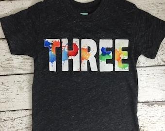 Paint party, splatter paint shirt, paint party invitation, paint party favors, art party, Birthday Tee, kids birthday shirt, kids birthday