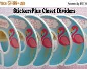 BIG SALE 6 Baby Closet Dividers Organizers Assembled or DIY PreCut Pink Blue Flamingo Bird Girl Baby Shower Gift Nursery Decor Clothes Organ