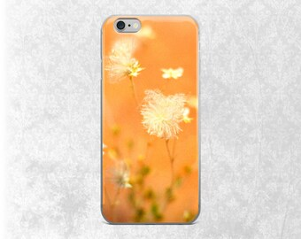 Bright iPhone Case, Desert Flower Galaxy S7 Case, Wildflowers, iPhone 6 Tough Case, Orange iPhone, Dreamy Phone Case, Gift for Her, iPhone 7