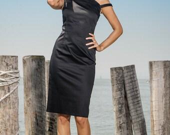 Black Pencil Dress Wiggle Dress
