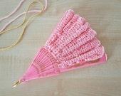 Hand Held Fan- Pink Lace Hand Fan- Lace Fan- Folding Hand Fan- Spanish Wedding Fan- Bridal Fan- Wedding Prop- Mother Of The Bride Gift