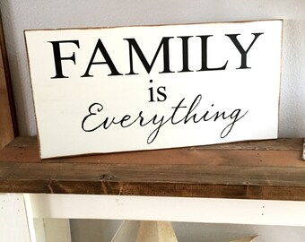 Large Wood Sign - Family is Everything - Subway Sign - Family - Gallery Wall - Gift - Marriage