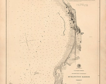 Burlington Harbor, Vermont – 1884