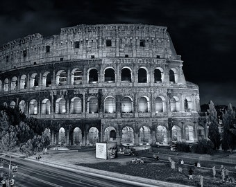 Black & White Photograph of the Colosseum