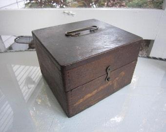 Oak Box with brass hardware
