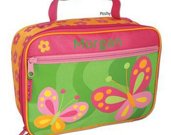 Personalized Girl Lunch Box Stephen Joseph Butterfly