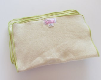 One Dozen Premium Organic Hemp/Bamboo Preflat(prefold) Diapers with FREE diaper cover