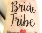 Bachelorette Party Favors - Bride Tribe Tattoo - Bachelorette Party Tattoo - Bridesmaid Gifts - Bridesmaid Favors - Bride Tattoo