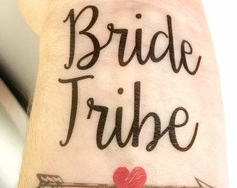 Bachelorette Party Favors - Bride Tribe Tattoo - Bachelorette Party Tattoo - Bridesmaid Gifts - Bridesmaid Favors - Bride Tattoo